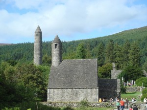 County Wicklow, Saint Kevin's monastery at Glendalough.