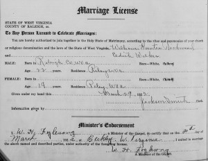 Richmond - Walker Marriage