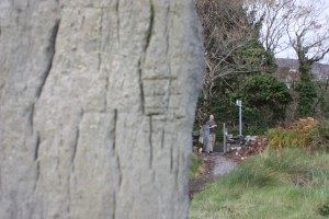 Ogham Stone Carving